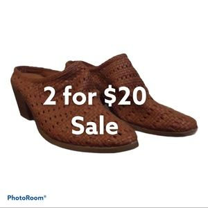 Universal Thread Heel Shoes Brown Size 9.5